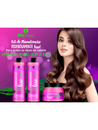 Kit Poderosamente Liso Bioflower 500ml