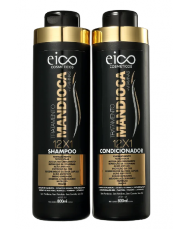 Kit Mandioca 12x1 Eico 2x800ml