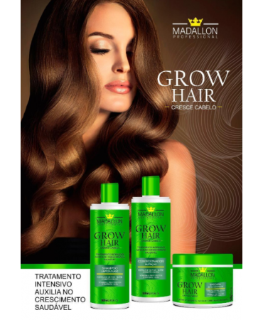 Kit Grow Hair Cresce Cabelo Madallon 500ml